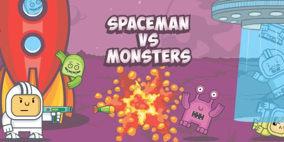 play spaceman vs monsters
